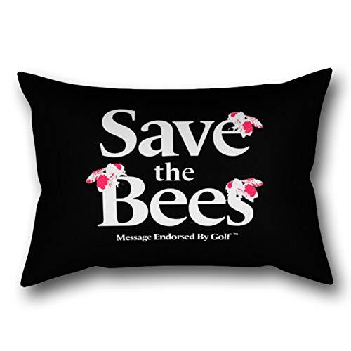 GYTOP Kissenbezug Speichern Sie die Bienen Golf Wang Rechteckiger Kissenbezug 50X75cm