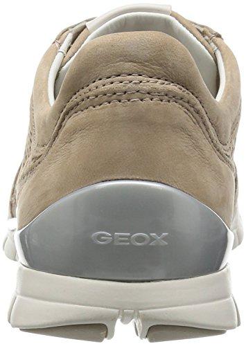 Geox D Sukie F, Scarpe da Ginnastica Basse Donna Marrone (Lt Taupe)