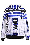 Star Wars 7 BB8 Roboter Robot Pulli Kapuzenpulli Cosplay Kostüm Blau XL