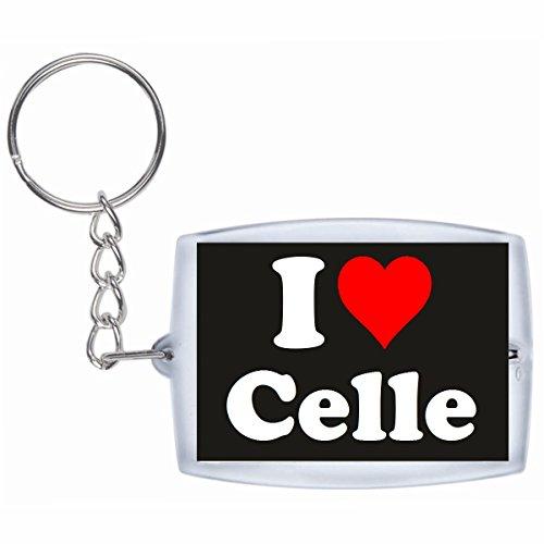 """Exklusive Geschenkidee: Schlüsselanhänger """"I Love Celle"""" in Schwarz, eine tolle Geschenkidee die von Herzen kommt - Rucksackanhänger- Weihnachts Geschenktipp"""