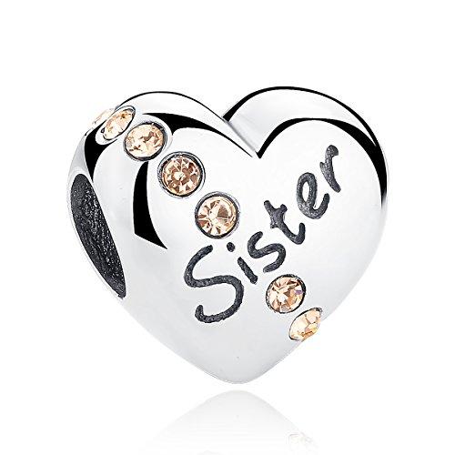 Charm-Anhänger, 925er Sterlingsilber, Herz-Design, für Pandora-Schmuck und europäische Armbänder