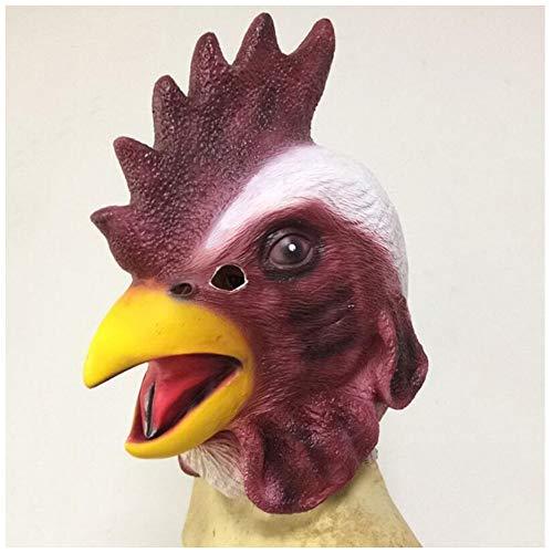 Weird Scary Mask Cock Kopfform Latex Kopfbedeckungen Halloween Karneval Weihnachtsfeier Dekoration Latexmaske Bar Haunted House Movie Requisiten Horror Party Maske Erwachsene ()