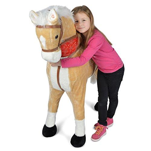 Giant XXL Plüschpferd Sternchen, 125cm hohes Kinderpferd zum Reiten