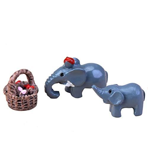 Provide The Best 3Pcs / Set Künstliche Mini Igel Schwein Hund Katze Elefant Esel-Karikatur Tier Miniatur-Figur Micro Landschaft Tischdekoration (Figur Miniatur-schwein)