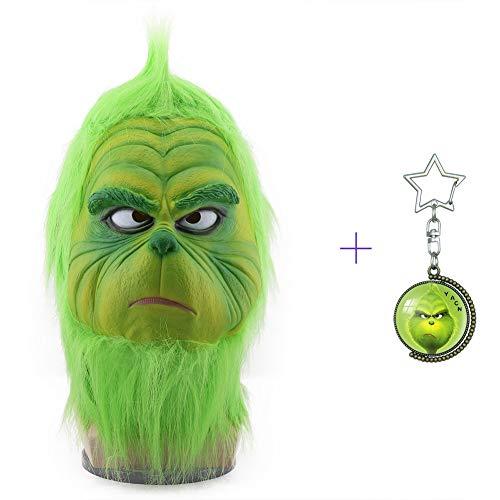 Yacn The Grinch Mask Con Fur Max Personajes de Navidad Accesorio de disfraces Funko