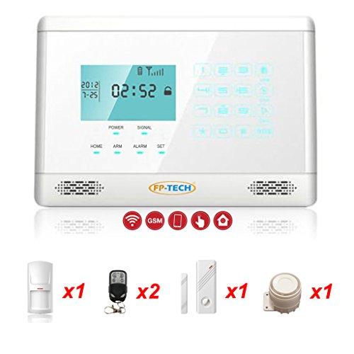 Diebstahlsicherung Alarm Touch Screen Haus Kit weiß mit Wählscheibe GSM Wireless Kabellos und App Smartphone, Kit S - FP-2E-1000-BIANCO, 1 (Gsm-kit)