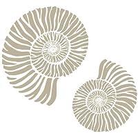 Stencil Mini Deco Fondo 060 Caracolas. Medidas aproximadas: Medida exterior del stencil: 12 x 12 cm Medida del diseño:9 x 9 cm