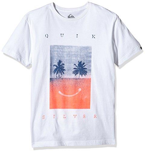 Quiksilver -  T-shirt - Maniche corte  - Uomo Bianco bianco X-Small