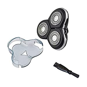 Rasierklinge Elektrischer Rasierklingen-Rotationsfolien-Ersatzkopf mit sauberer Bürste für Philips RQ12/50 Norelco SensoTouch 3D RQ12xx