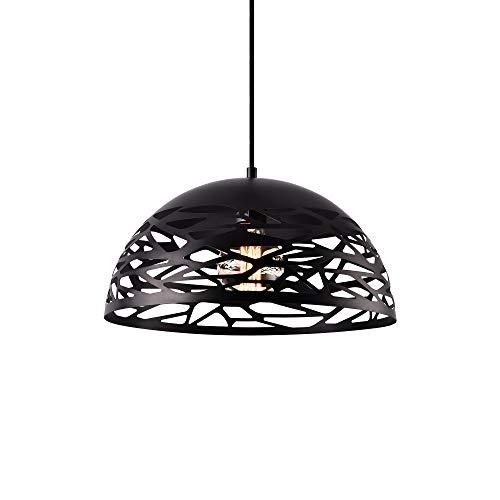 [lux.pro] lampadario a sospensione nero metallo (altezza incl. cavo 145, cm) - lampada a pendolo%a