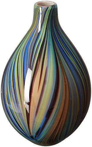 Renaissance 2000 Deko-Glas Vase, 15cm von 24,9cm von 15cm von 24,9cm, braun