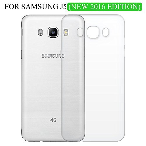 Shop Buzz Transparent Back Cover For Samsung Galaxy J5 2016 Edition 5.2 Inches Screen - TPU Silicon Back for Sam J5 (2016) / J5-6