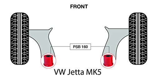 PSB Push Jetta MK5 (05-11) Kit de baguettes avant Wishbone arrière – PSB160