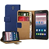 Membrane Funda Alcatel One Touch Pop Star 5022D Carcasa Azul Cartera Wallet Case Flip Cover