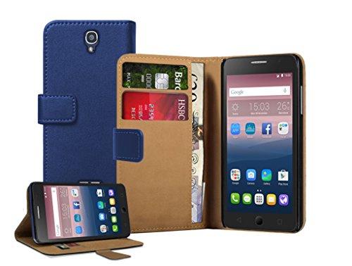 Membrane - Blau Brieftasche Klapptasche Hülle kompatibel mit Alcatel One Touch Pop Star 5022D