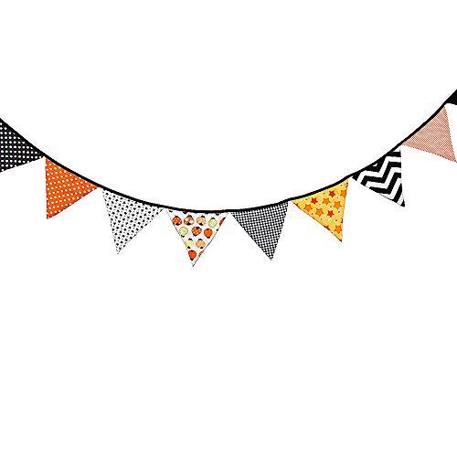 Papier-Wimpelbanner, bunt, dreieckige Wimpelkette, Wimpelkette, für Hochzeit, Geburtstag, Babyparty, Halloween, Weihnachten, Party, zum Aufhängen, Dekoration, 3,2 m