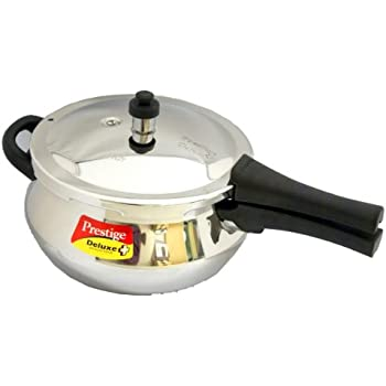 Prestige Deluxe Plus Junior Induction Base Stainless Steel Pressure Handi, 4.4 Litres (20140)