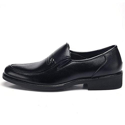 LYZGF Hommes Messieurs Printemps Et Automne Affaires Loisirs Mode Non-slip Chaussures En Cuir Paresseux Black
