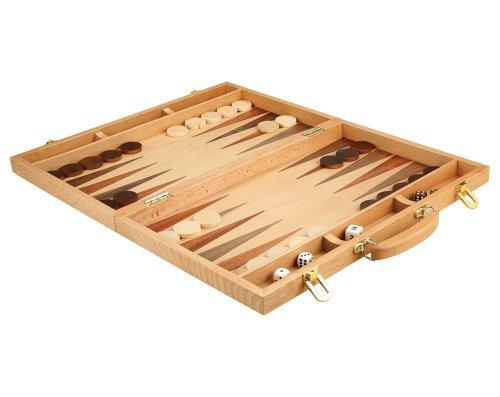 Christopher Holz Backgammon-Set-45,7cm Koffer Board Spiel mit Holz Teile-Extra Groß (Holz-backgammon-board)