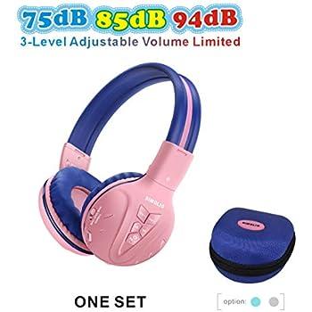 27e16708044 SIMOLIO Bluetooth Kids Headphones Volume Limiting,Kids Safe Headphones with  Share Jack, Wireless Headphones for Kids,Bluetooth Kids Headsets for ...