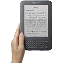 Kindle Keyboard, eReader, Wi-Fi, 15 cm (6 Zoll) E Ink Display, englisches Menü