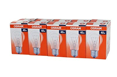 10x OSRAM 40W AGL CL40 Classic A Glühlampe Glühbirne E27 klar von Osram - Lampenhans.de