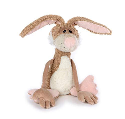 sigikid, Hase - Lazy Bunny, Beaststown, Kuscheltier für Erwachsene und Kinder, beige ,39181