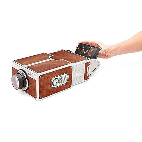 Finoki Projecteur - Vidéoprojecteur Mini Portable Projecteur Smartphone projecteur de poche