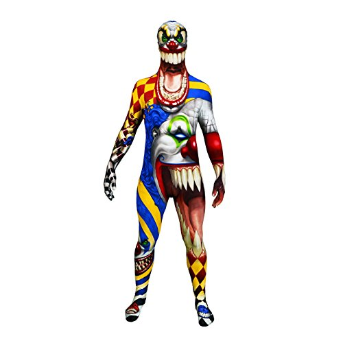 or Clown Morphsuit Ganzkörperanzug, Größe:Large (Halloween Clown Morphsuit)