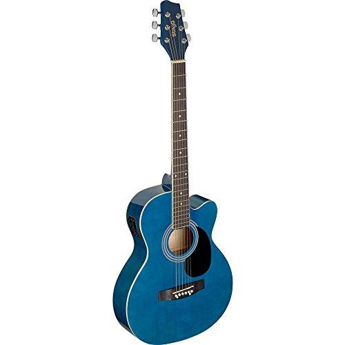 Guitarra acústica de auditorio Stagg, azul