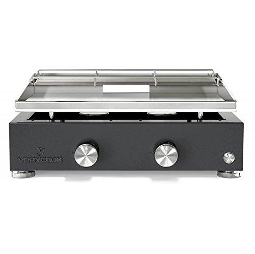 Plancha-Grill Simplicity 2 Brenner mit Edelstahl-Grillplatte