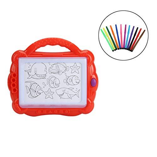 Mitlfuny Kinder Erwachsene Entwicklung Lernspielzeug Bildung Spielzeug Gute Geschenke,Pädagogisches Kindergekritzel-Spielzeug-elektrisches Beleuchtung-löschbares magnetisches Reißbrett (Paare Feuerwehrmann Kostüme)