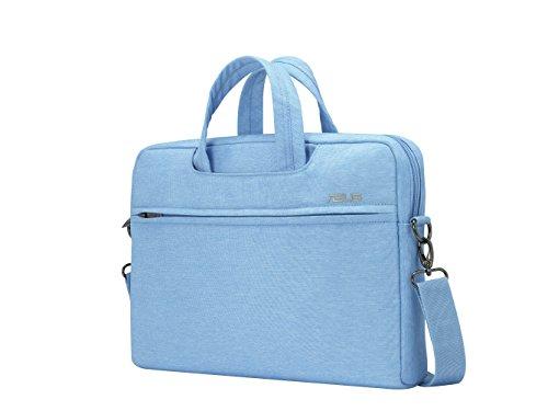 Asus EOS Tasche (bis zu 12 Zoll, gepolstert, viele Taschen und Fächer, für Notebook) hellblau (Asus Laptop Tablet Tasche)