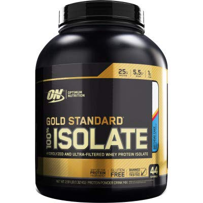 Optimum Nutrition Gold Standard 100% Isolate, BCAA, GLutamin, Ultra Pure, Low Carbs, 930g by Optimum Nutrition