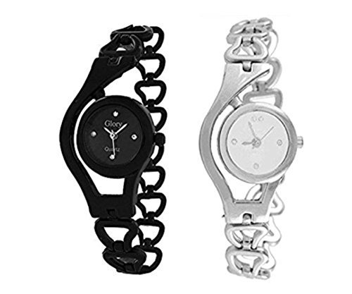 Watches for Girls ( MS ENTERPRISE White Dial Round Analogue Combo Watch for womens - MS-CHIN-C-8-A)