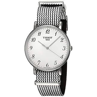 Tissot Reloj Analógico para Unisex Adultos de Cuarzo con Correa en Tela T1094101803200