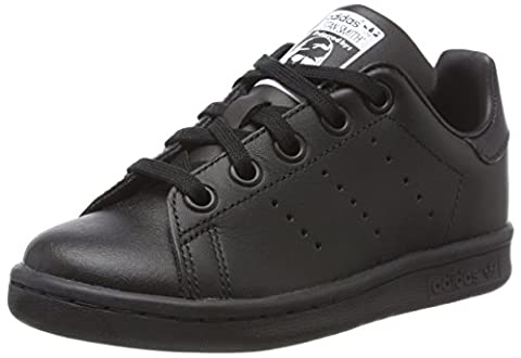adidas Stan Smith, Baskets Basses Mixte Enfant, Noir (Core Black/Core Black/Core Black), 30 EU