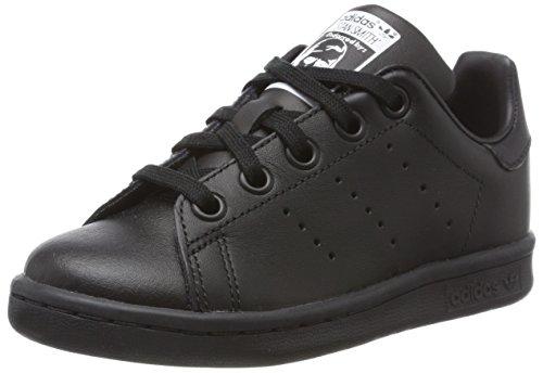 adidas Stan Smith C, Scarpe da Ginnastica Basse Unisex-Bambini, Nero (Core Black/Core Black/Core Black), 30 EU