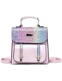Damen Glitzer Rucksack Backpack Einhorn Schulrucksack Ranzen Mini Tagesrucksack