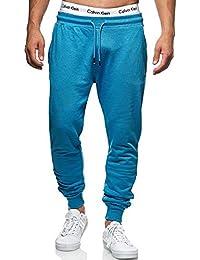 Indicode Pantalones de chándal para hombre de Eberline, de 95 % algodón, corte regular, pantalones de deporte para hombre, elásticos, pantalones de chándal para hombre