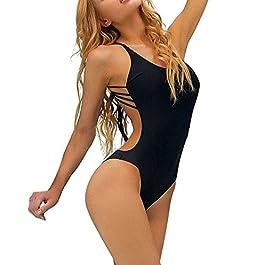 Aidonger Donne Costume da Bagno Push up 1 pezzo Bikini Backless Halter Dimagrante Swimsuit Beachwear S-XL