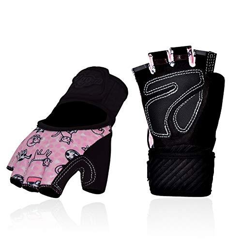 Vgo... 2 Paare für Kinder zwischen 7 und 8 Jahre alt, Rollschuhe- und Skateboardhandschuhe, halbfinger, atmungsaktiv, Outdoor-Handschuhe mit Rutschfester Palmen (Kid-XL, Pink, SL6084-KIDM)