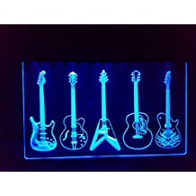 Guitarra/Guitars Bombilla LED Cartel Cartel Cargar Reklame Neon Neon Cartel Bar Disco Music Shop