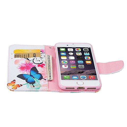 TIODIO® Housse en cuir Pour Apple iphone 7 / iphone 7G PU étui en cuir / case/ coque/ cover/ housse avec la fonction de stand+1 x Stylet+1 x film de protection d'écran, A05 A03