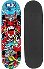 Oxelo Mid 3 Gamer Junior Skateboard Red
