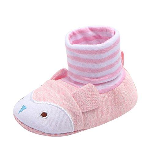 Manadlian Chaussures Bébé Cartoon Toddler Enfants Bébé Anti-Dérapant Sock Chaussures Bottes Pantoufle Chaussettes 0-12 Mois