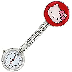 Meta-U Cat Pocket Watch-Red