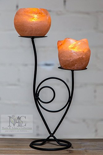 Nuova lampada di sale dell' himalaya double-plate lumino portacandela