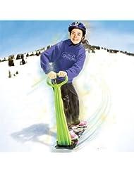 Geospace: plegable de esquí y snowboard Kick-Scooter para uso en nieve y hierba, colores variados Geospace: plegable de esquí snowboard Kick-Scooter para uso en nieve y hierba, colores surtidos, hombre Infantil mujer, reseda, 36 x 31 x 9.75