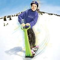 Geospace Sci Snowboard pieghevole: kick-scooter per uso su neve & erba, colori assortiti Geospace Sci Snowboard pieghevole: kick-scooter per uso su neve & erba, colori assortiti, Uomo Bambino donna, reseda, 36 x 31 x 9.75